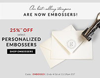 Email & Billboard - Embosser Sale | finestationery.com