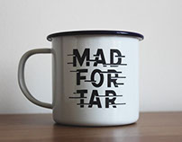 Mad For Tar enamel mugs