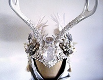 ICE MAIDEN - Snow Queen Winter Antler Headdress