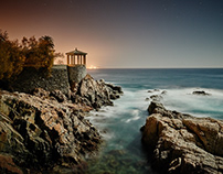Moonlight Shoot at the coastline in Spain...