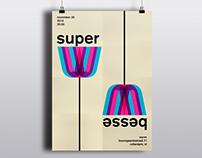 Super Besse concert poster