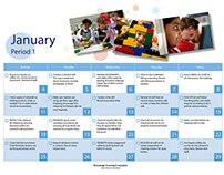Calendar for Kindercare Classrooms