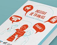 Institut de Français - Mise en page & illustrations