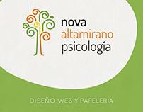 Nova Psicología- Diseño web y Papelería