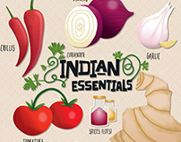 Essential Indian Ingredients Illustration