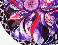 Doodle - Circular flower