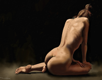 Nude #2, woman from the back