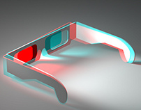 Anaglyph 3D posters