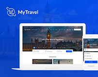 MyTravel - Travel Booking Agency PSD Template