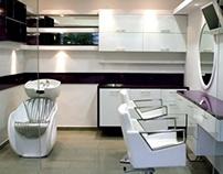 עיצוב פנים מספרה Hair Salon Interior Design
