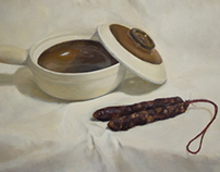 Chinese sausage and pot