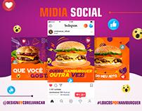 Midia Social de anúncios da Web Restaurante