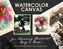 Watercolour Canvas (Photo to Art)