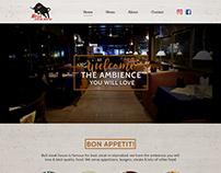 Steak house website development services.