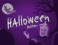 Halloween seamless pattern pack