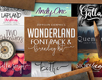 Wonderland Fonts Pack & Branding Kit