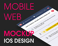 Mockup for Mobile Web - How To Download Page