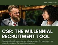 CSR- The Millennial Recruitment Tool