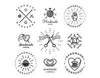 Vintage & hipster logo vector sets and business cards