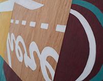 Typographic wood panels