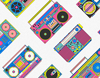Boombox - ilustraciones