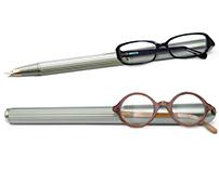 Eyeglass clip pen