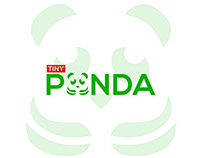 TINY PANDA Logo Design