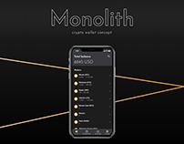 Monolith. Crypto wallet concept