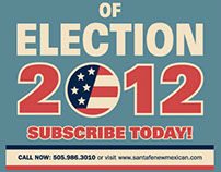 Advertisement for Election Coverage 2012