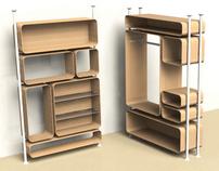 Module furniture structure
