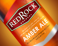 Red Rock Brewery Label Design
