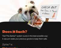 ZipVac Does it Suck Video page