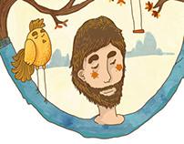 Illustrations for Noah Eats Apple