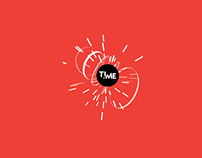 time typography