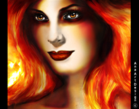 WOMAN FACE (FIRE)