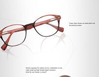 eye galsses frame design for showing customers