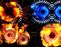 Fire Speaker - VJ Loop Pack (4in1)