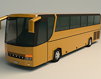 Low Poly Coach Bus 02