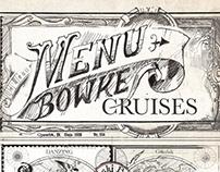 Bowke Cruises - Menu design