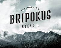 Free Font Bripokus Stencil