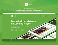 Landing page template sale system.