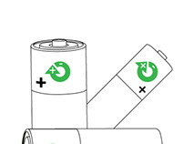 Rechargeable Batteries Standard Icon