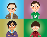Big Bang Theory Illustrations