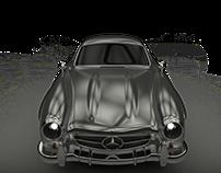 old mercedes benz 300SL 3D modeling