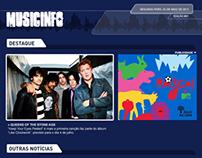 Projeto Music Info - site, newsletter e banner