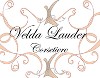 Velda Lauder Corsetiere, logo design and photo edits