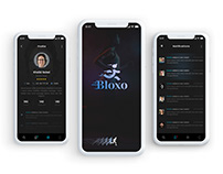 Bloxo App UI/X Design -- Sports Related