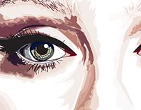 Adele vector portrait