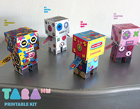 TaraBots Paper Toy DIY Robots Craft Kit