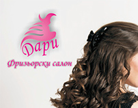advertising and logo for a hairdress studio Dari
